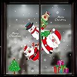 Aufkleber Fensterbilder Set Glas Schneeflocken Weihnachten Winter Fensterdeko Statisch Haftende PVC-Sticker Weihnachtsaufkleber Christmas Decor Weinachts Fenstersticker