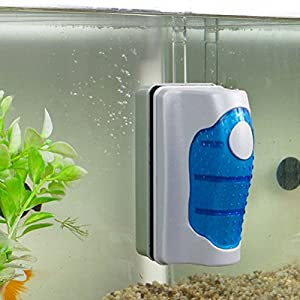 FALAIDUO Magnetic Brush Fish Tank Glass Algae Scraper Cleaner Floating Curve Cleaning Pad for Aquarium