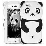 kwmobile Funda para Apple iPhone 6 / 6S - Carcasa Protectora de [Silicona] y diseño de Panda - Cover [Trasero] de móvil