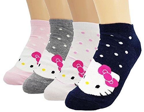 Hello Kitty Socken - JJMax Women's Hello Kitty Collection Cute