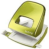 Leitz Locher, 30 Blatt, Metallic Grün, Anschlagschiene mit Formatvorgaben, Metall, Blisterverpackung, New NeXXt WOW, 50081023