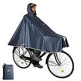 Anyoo Mantella da Bicicletta Impermeabile Portatile Leggera Poncho da Pioggia Bici Bicicletta Compatta Riutilizzabile Unisex per Backpacking Campeggio Aria Aperta