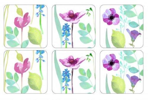 Pimpernel Water Garden Untersetzer, 6 Stück, mehrfarbig, Farbe