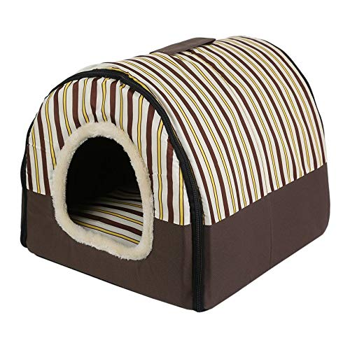 HibiscusElla Portable Foldable Puppy Dog Cat House with Mat Kennel Nest Soft Bed Bag for Small Medium Pet Dogs Comfortable Travel Tent