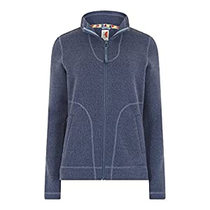 51NJCr jThL. SS300  - Weird Fish Galata Soft Knit Full Zip Fleece Top