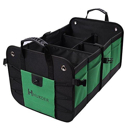 HUKOER Premium Kofferraumtasche Organizer Faltbare Container, 14.57 * 12,6 * 22.83in, die Lagerung von ihrem verschiedenen Auto, LKW, Minivan oder SUV(Upgraded version)