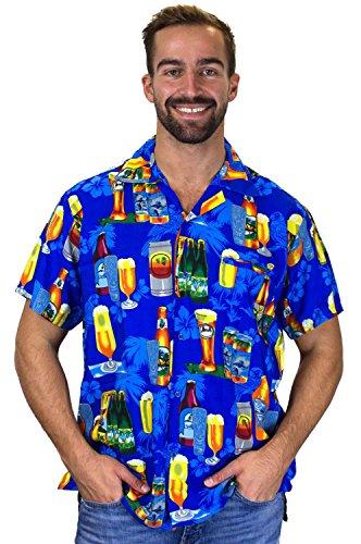 Funky Hawaiihemd,Bierblau,L
