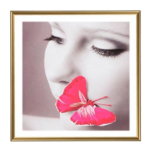 Photo Style Bilderrahmen 20x20 30x30 40x40 50x50 quadratisch Foto Rahmen: Farbe: Gold   Format: 20x20
