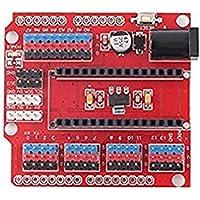 hiletgo® 3pcs Nano I/O Sensor de expansión Shield para Arduino UNO R1Nano 3.0Duemilanove 2009