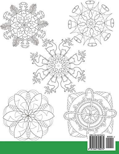 Disegni Di Natale Da Colorare Per Adulti.Libro Mandala Di Natale Libro Da Colorare 30 Mandala