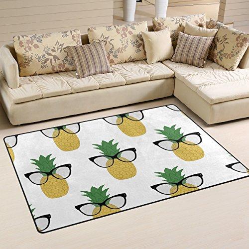coosun Ananas mit Sonnenbrille Bereich Teppich Teppich rutschfeste Fußmatte Fußmatten für Wohnzimmer Schlafzimmer 78,7x 50,8cm, Textil, multi, 31 x 20 inch