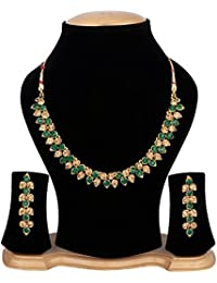 Cardinal Latest Design Stylish Party Wear Necklace Pendant Set With Earring For Women/Girls
