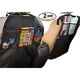 Baby Caboodle Coche asiento trasero protector almacenaje bolsillos organizador Kick mats 2 pack