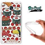BeCool® Fun - Coque Etui Housse en GEL Flex Silicone TPU Samsung Galaxy A3 2016 , protège et s'adapte a la perfection a ton Smartphone et avec notre design exclusif.Cuisine Japonaise