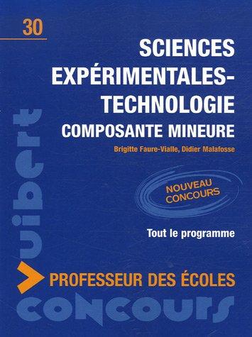 Sciences expérimentales-technologie : Composante mineure