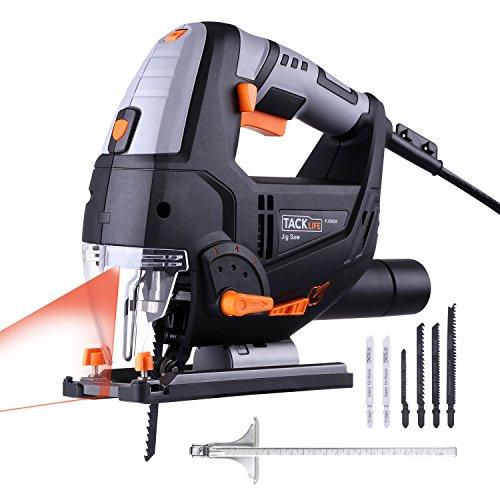 51NJG4dY%2BaL Tacklife PJS02A, seghetto alternativo da 800 W con laser e 6 lame