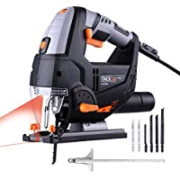 Seghetto Alternativo Con Laser 800W Tacklife PJS02A Sega Elettrico Professionale Velocità Regolabile 800~3000rpm con 6 Lame per Tagliare Mettalo Legno Plastica