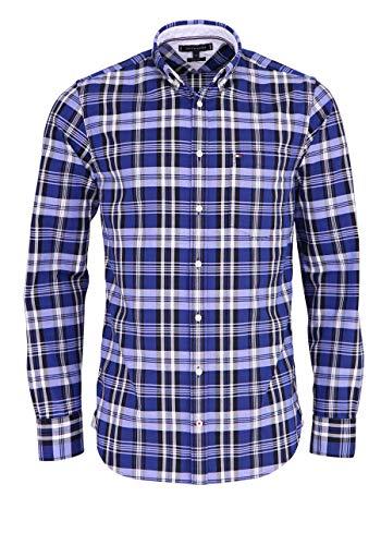 Tommy Hilfiger Herren Hemd Oxford Check Regular Fit Langarm blau (51) XL - Tommy Hilfiger Check