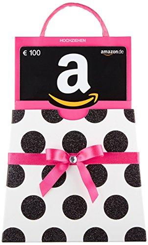 Amazon.de Geschenkgutschein in Geschenkschuber - 100 EUR (pinke Schleife)