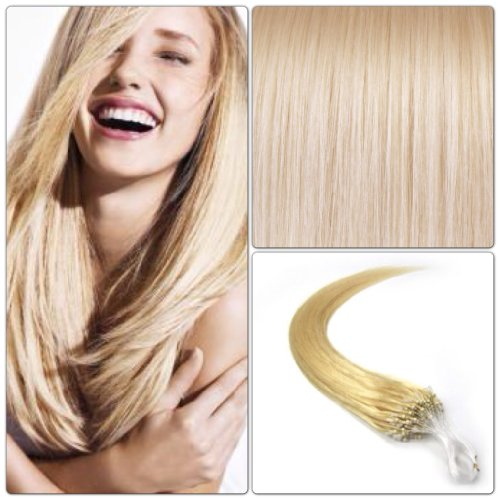 R-EXTENSIONS - EXTENSIONS DE CHEVEUX NATURELS 50CM POSE A FROID EASY LOOP BLOND PLATINE #613