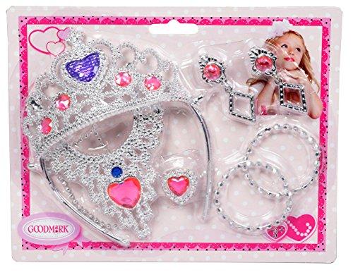 Goodmark Schmuck Set Prinzessin, 1er Pack (1 x 7 Stück)