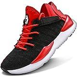 Garcon Fille Sneakers Chaussure de Course Baskets Mode Enfant Chaussure de Running Gymnastique Tennis Sneakers(Rouge 36EU)