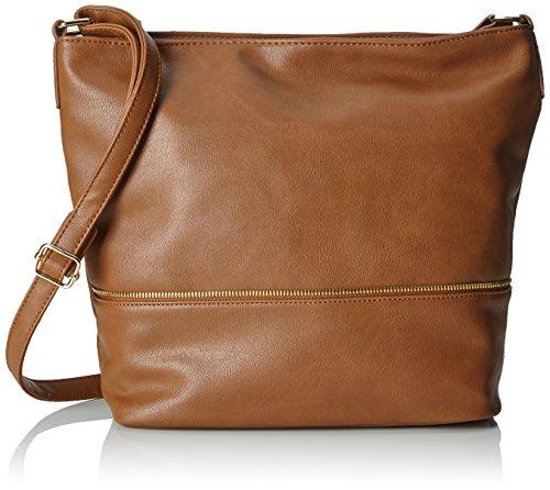 Handbags Damen Leni Umhängetasche Braun (Cognac)