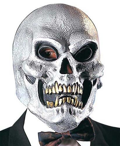 Silver Skull Mask Skeletor Skeleton Halloween Fancy Dress by Home & Leisure Online