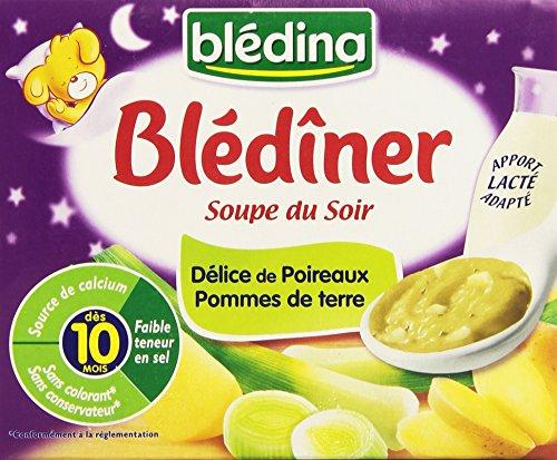 Blédina Blédîner Soupe du Soir Délice de Poireaux et Pommes de Terre 2 x 250 ml