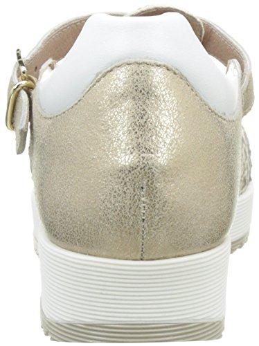 Donna Piu Damen 52322 Lucilla Mary Jane Halbschuhe Or (Squama Camel/Sun Camel/Vacchetta Bianco)