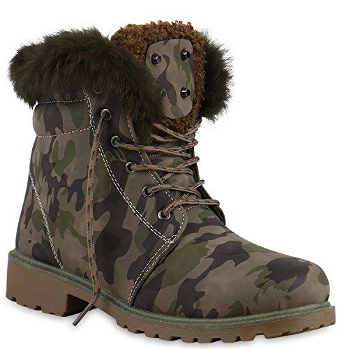 Unisex Damen Herren Warm Gefütterte Damen Worker Boots Stiefeletten Outdoor Flandell Camouflage Gefuttert