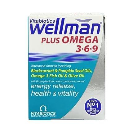 Vitabiotics Wellman Multivitamin Plus Omega 3, 6 & 9 - 56 Tablets (Pack of One) by Wellman from VITABIOTICS LTD