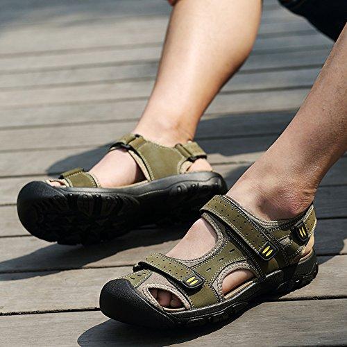Moollyfox Sandales En PU-Cuir/Grandes Chaussures De Sport De Taille Vert Clair