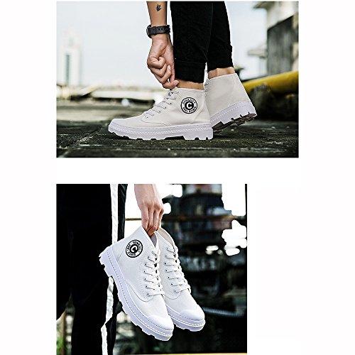 XIAOLIN Da Uomo Scarpe Gomma Primavera Autunno Comoda Sneakers Footing Stivaletti/tronchetti Nastro ( Colore : Bianca , dimensioni : EU42/UK8.5/CN43 ) Rosso
