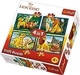 Trefl 34317 - Puzzle 4 in 1, modello Le Re Leone, 35-48-54-70 pezzi, multicolore