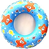 Skky Bell Fish Print Inflatable Swim Ring - Blow Up Floating Tube Raft Tube For Swimming Pool Beach For Age 3-10 Years - 61cm(printed May Change)
