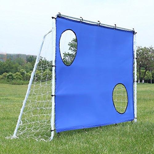 Songmics Fußballtor Maße 240x150x90cm Nets Portable Blau SZQ240 - 2