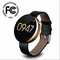 Fitness uhr herzfrequenz smart armband,Fitness Tracker,Ringing Erinnerung,Schlafüberwachung,Metallgehäuse,Pulsmesser,Sport uhr,LED Dimmbarer Projektion Dual-Wecker Aktivitätstracker für Android und IOS