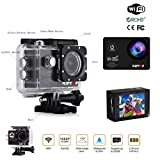KIPTOP WIFI 12MP 2 inches LCD 1080P HD 30 Meters Underwater Camera with 2 Improved Batteries and FREE Accessories Time Lapse and Slow Motion Video Recording