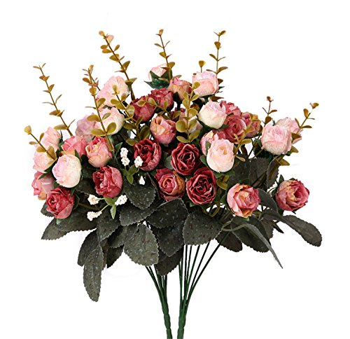 houda-artificial-silk-fake-flowers-leaf-rose-wedding-floral-decor-bouquetpack-of-2-pink-coffee