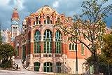 "Alu-Dibond-Bild 120 x 80 cm: ""Hospital de la Santa Creu i de Sant Pau, Barcelona, Spain"", Bild auf Alu-Dibond"