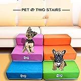 Scaletta Scala Cat Dog 2 Gradini Pieghevole Scala Pieghevole con Due Livelli per Il Training degli Animali più Giovani Sia per Agevolare La Salita dei Animali più Anziani (Gris)