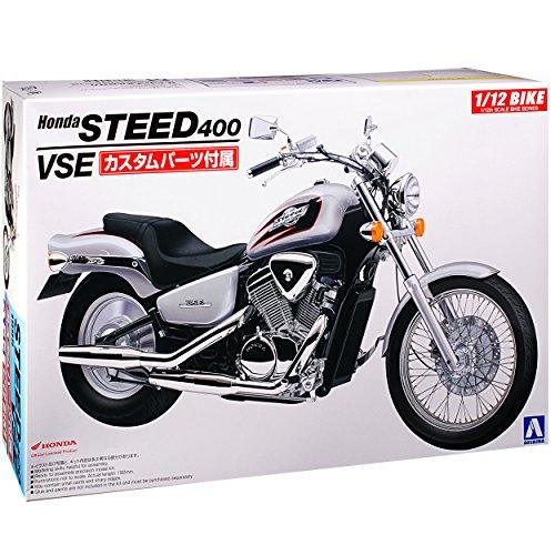 Aoshima Honda Steed 400 VSE 1995 Silber 53980 Nr 44 Kit Bausatz 1/12 Modell Motorrad (Honda Steed 400 Motorrad)