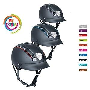 Helmfabrik Casco de equitaci/ón para K31/para ni/ños y Adultos en Color Negro Incluye pr/áctica Bolsa Casco para el Transporte y Guardar