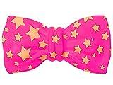 Noeud-papillon en PVC plastique, Convenables pour les adultes et les enfants environ 20 x 10 cm Idéal pour vos soirées déguisées. Rapport qualité prix imbattable Possède un élastique afin de la maintenir aisément autour du cou, :P-80 pink étoiles