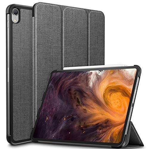 Infiland iPad Pro 11 Zoll 2018 Hülle Case, Slim Shell dünne Schutzhülle Cover Tasche für iPad Pro 11 Zoll 2018 (mit Auto Schlaf/Wach Funktion,Unterstützt Das Aufladen des Apple Pencil),Grau