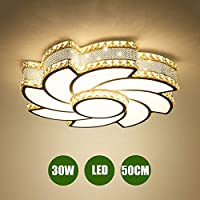 GaoHX LED 30W/40W Crystal Ceiling Light Chandelier bedroom Home Decoration Ceiling Lamp Chandelier LED Lamps Windmill Chandeliers illumination fixture Acrylic Bright lampshade LED Ceiling Lighting