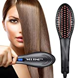 Weltime Hair Electric Comb Brush 3 in 1 Ceramic Fast Hair Straightener For