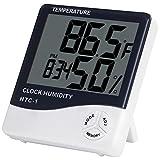 Anpro Termometro Igrometro Digitale con Sveglia per Casa Auto Ufficio ecc
