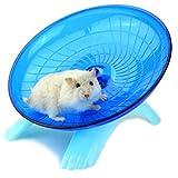 """Vi.yo Hamster Fliegende Untertasse Übung Rad Kleintiere Übung Spielzeug Stille Spinner für Pet Syrian Hamsters Ratte Kunststoff 18 cm / 7 """" (Blau)"""